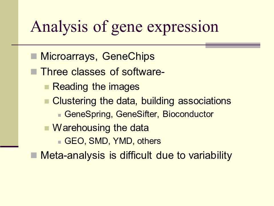 Analysis of gene expression
