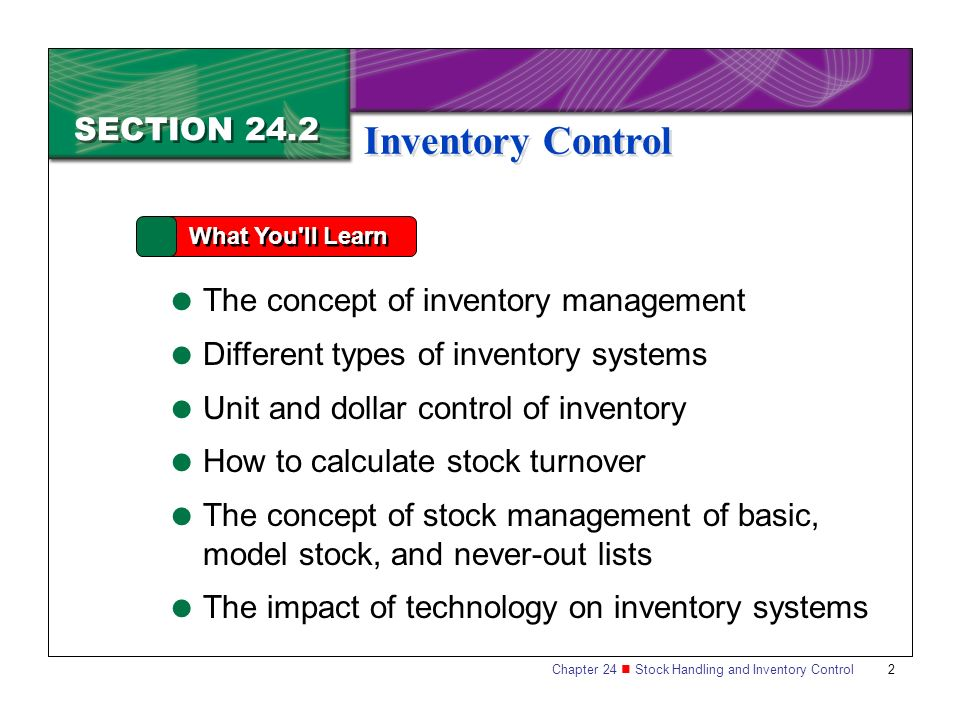 the concept of inventory turnover Inventory turnover is a ratio showing how many times a company has sold and replaced inventory during a period the company can then divide the days in the period by the inventory turnover formula .