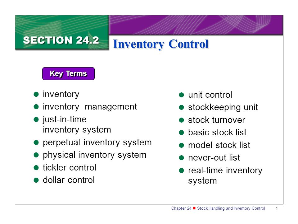 Section 24.2 Inventory Control - Ppt Download