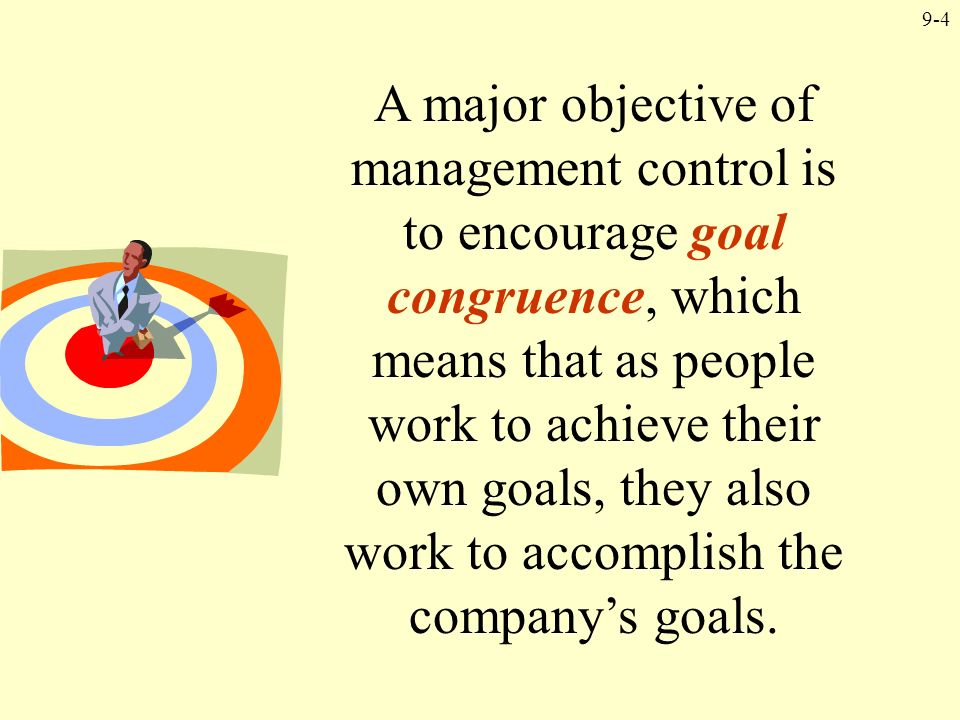 how to achieve goal congruence
