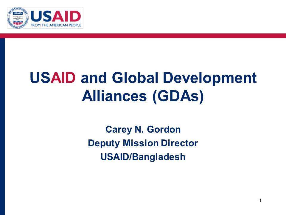 USAID and Global Development Alliances (GDAs)