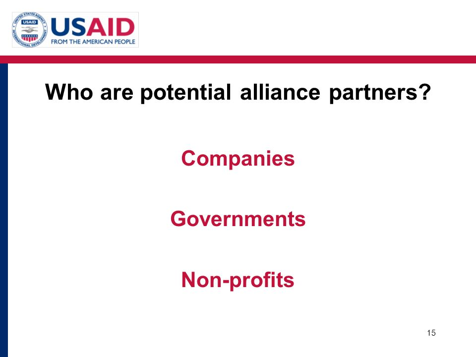 Who are potential alliance partners
