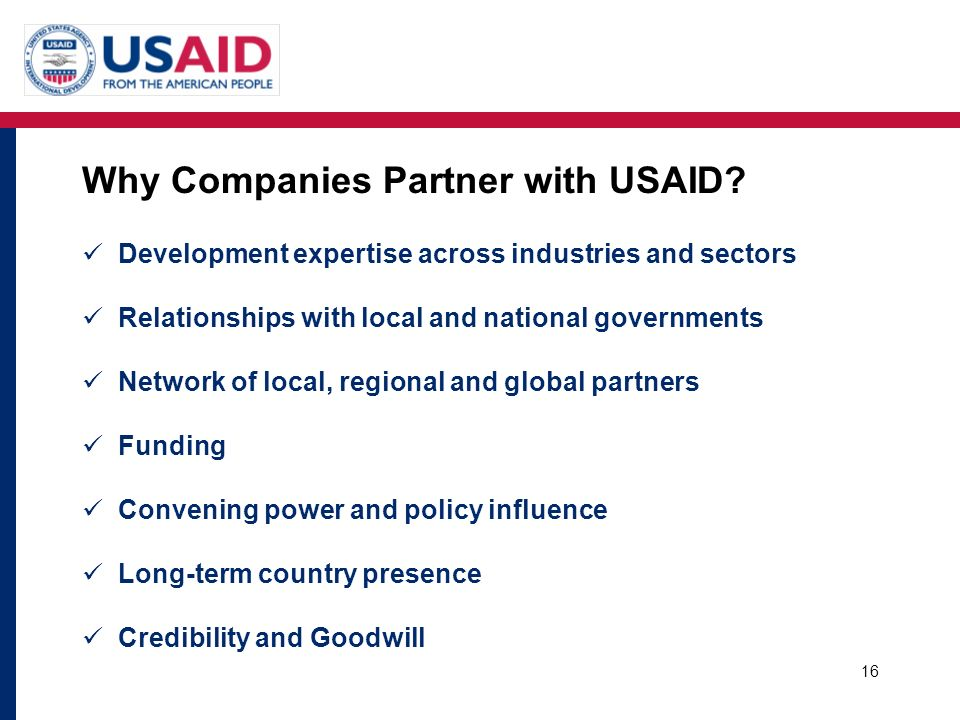 Why Companies Partner with USAID
