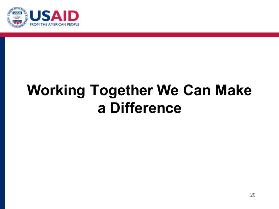 Working Together We Can Make a Difference
