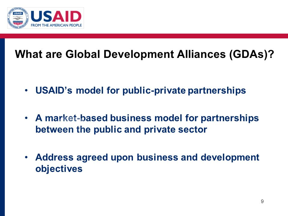 What are Global Development Alliances (GDAs)