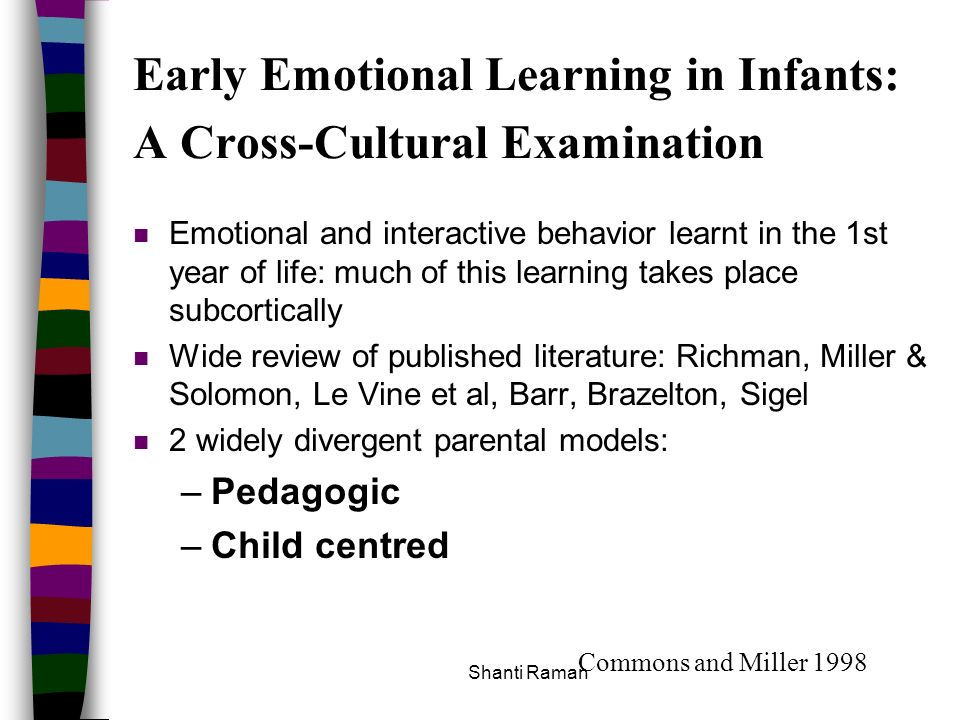 Early Emotional Learning in Infants: A Cross-Cultural Examination