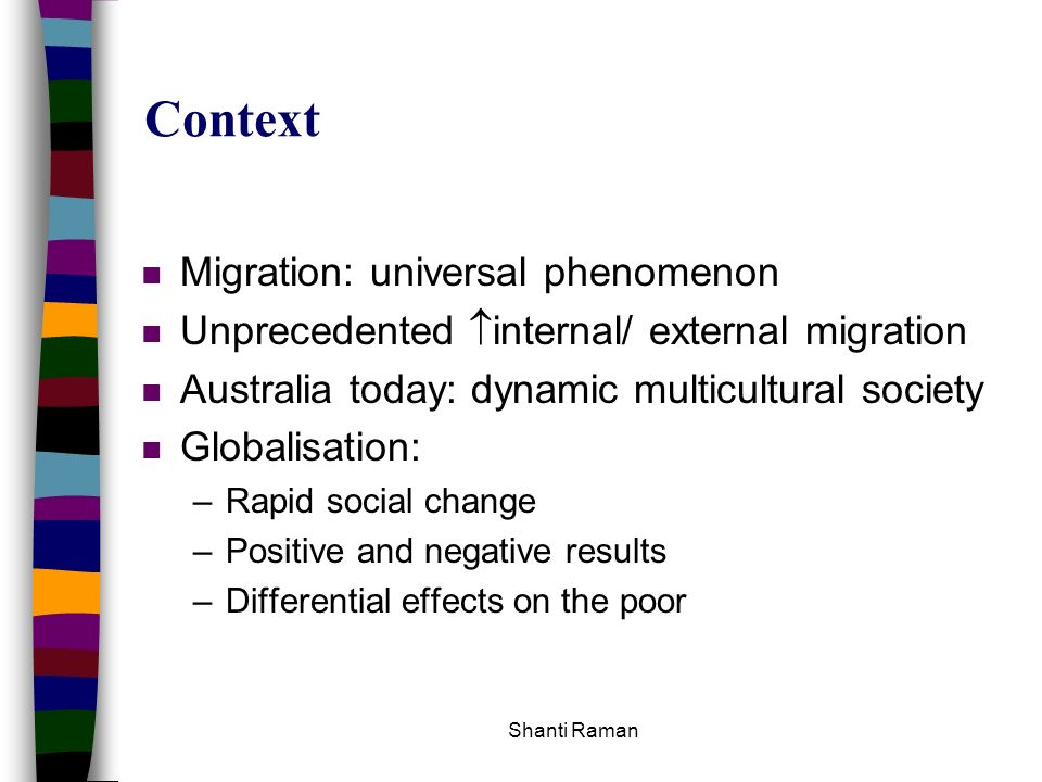 Context Migration: universal phenomenon