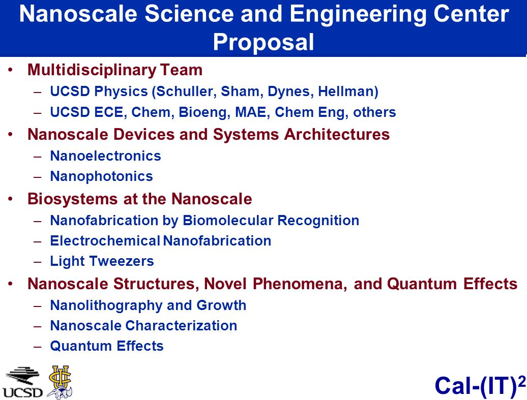 Nanoscale Science and Engineering Center Proposal
