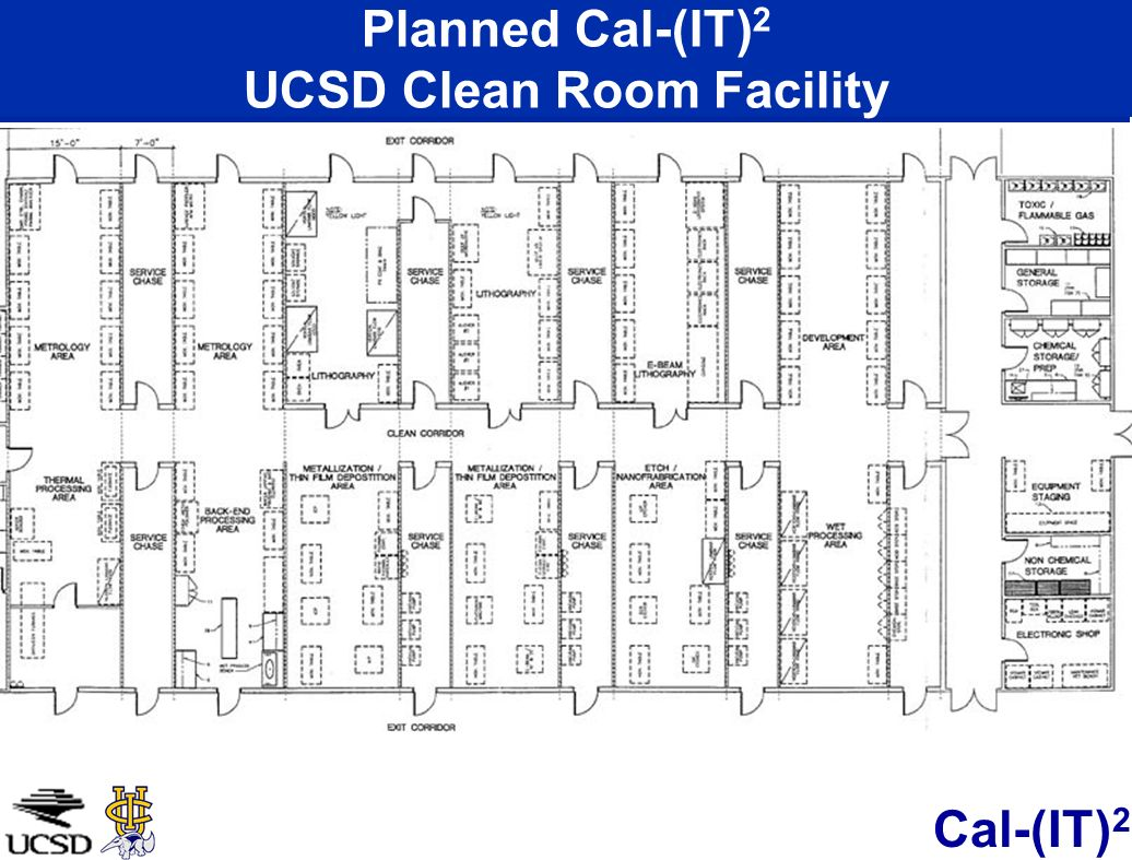 Planned Cal-(IT)2 UCSD Clean Room Facility