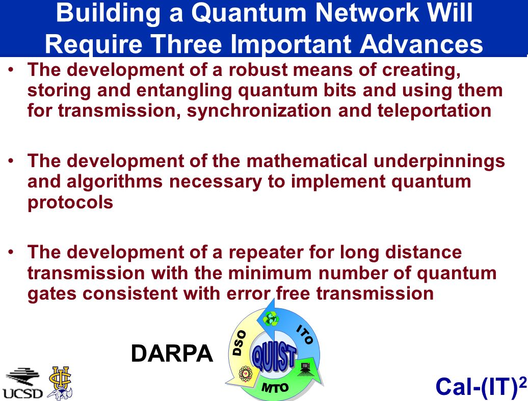 Building a Quantum Network Will Require Three Important Advances
