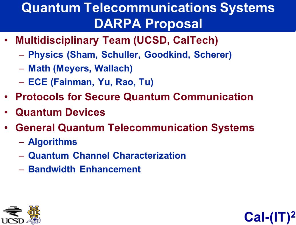 Quantum Telecommunications Systems DARPA Proposal