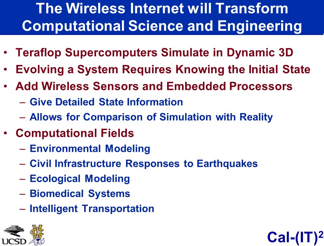 The Wireless Internet will Transform Computational Science and Engineering