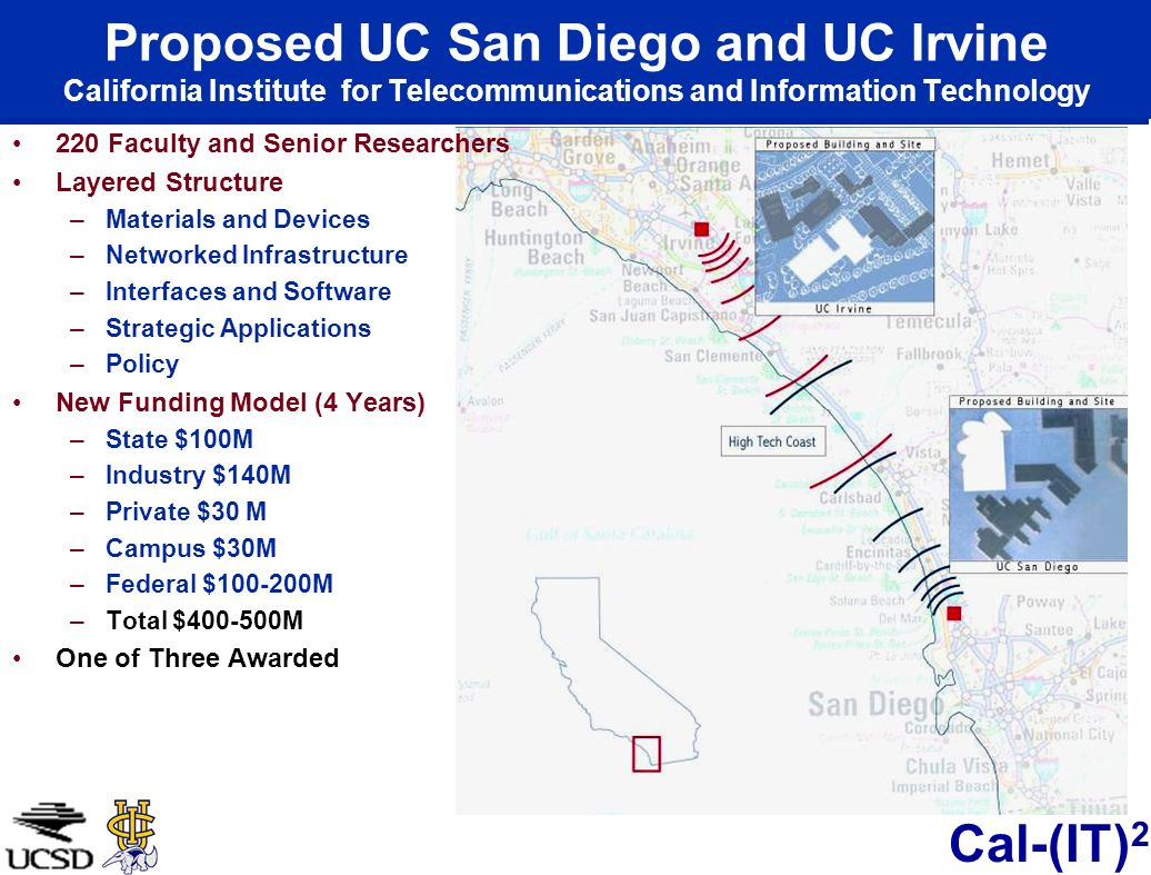 Proposed UC San Diego and UC Irvine California Institute for Telecommunications and Information Technology