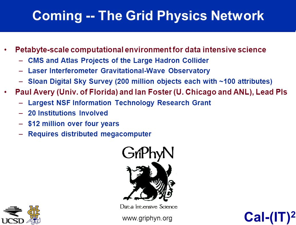 Coming -- The Grid Physics Network