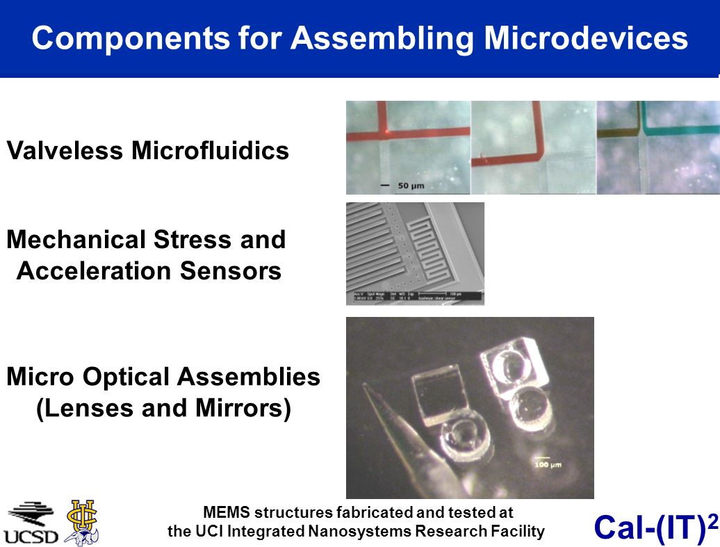Components for Assembling Microdevices