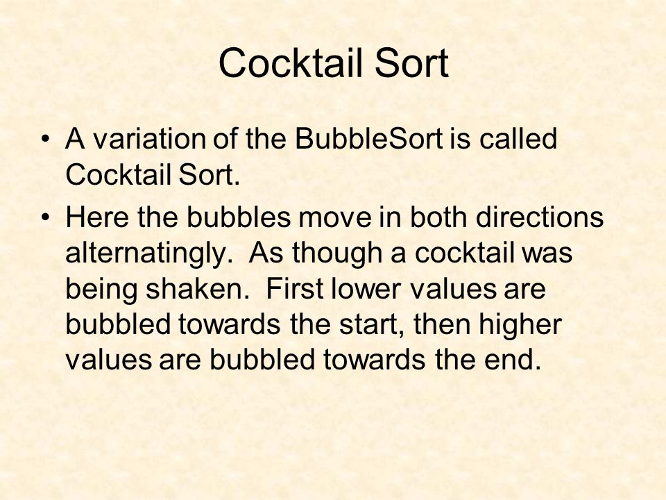 Cocktail sort