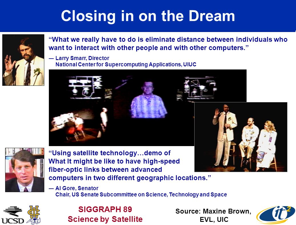 Closing in on the Dream SIGGRAPH 89 Science by Satellite
