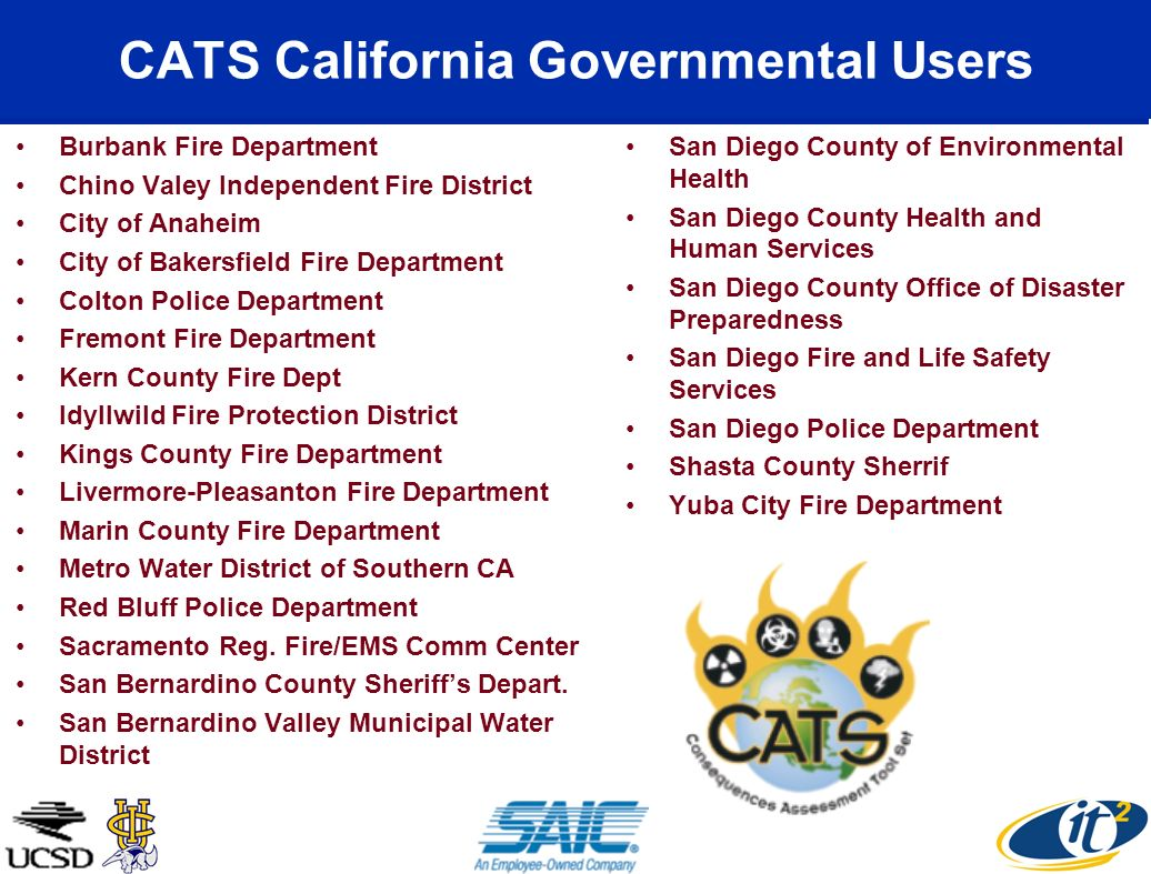 CATS California Governmental Users