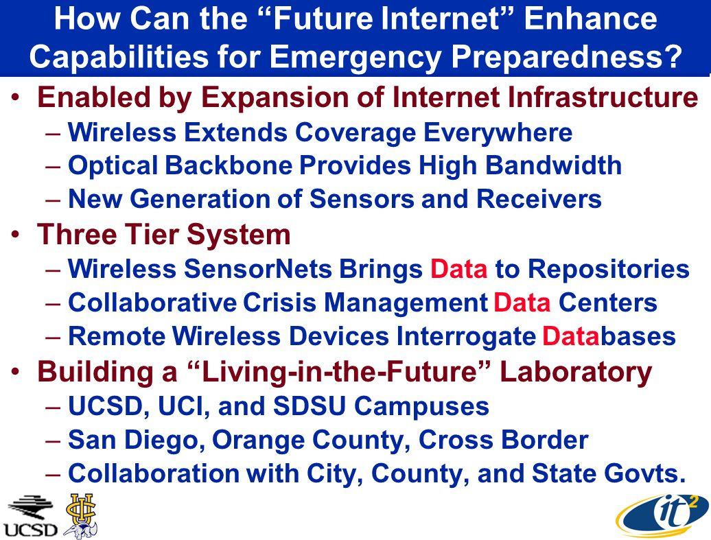 How Can the Future Internet Enhance Capabilities for Emergency Preparedness