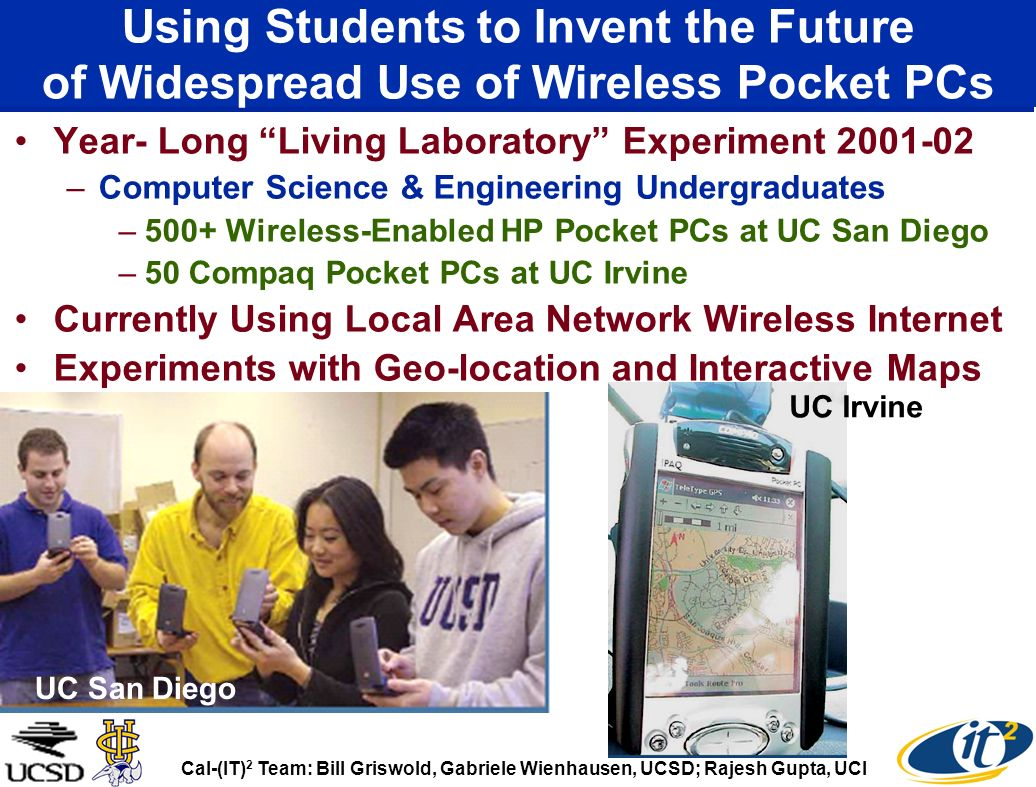 Using Students to Invent the Future of Widespread Use of Wireless Pocket PCs