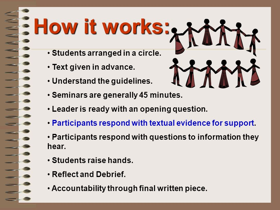 How it works: Students arranged in a circle. Text given in advance.
