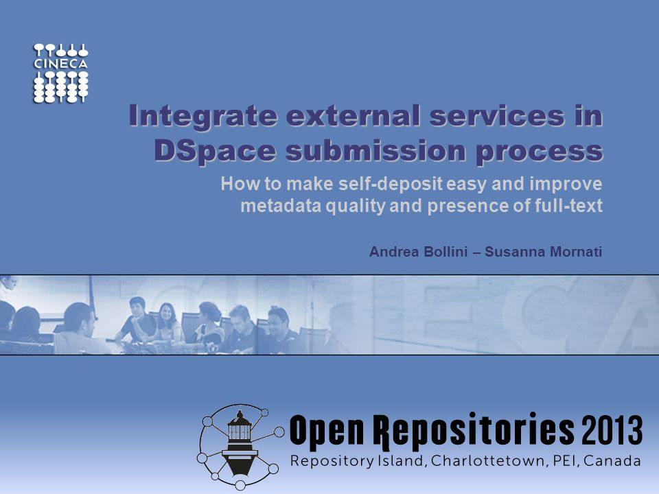 Integrate external services in DSpace submission process