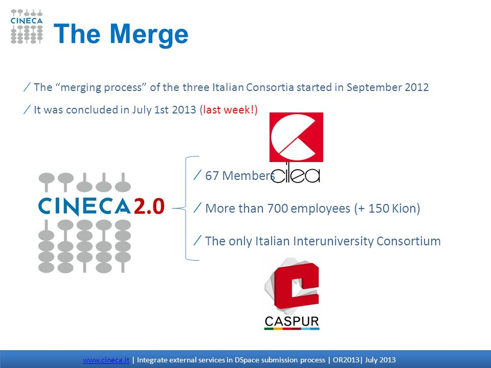 The Merge 2.0 67 Members More than 700 employees (+ 150 Kion)