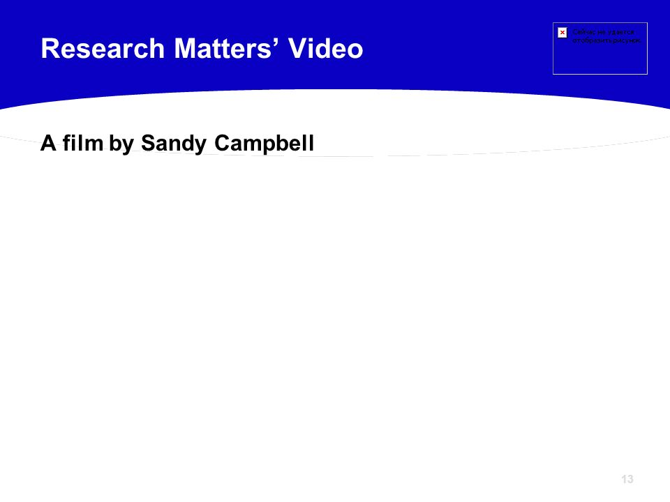 Research Matters' Video