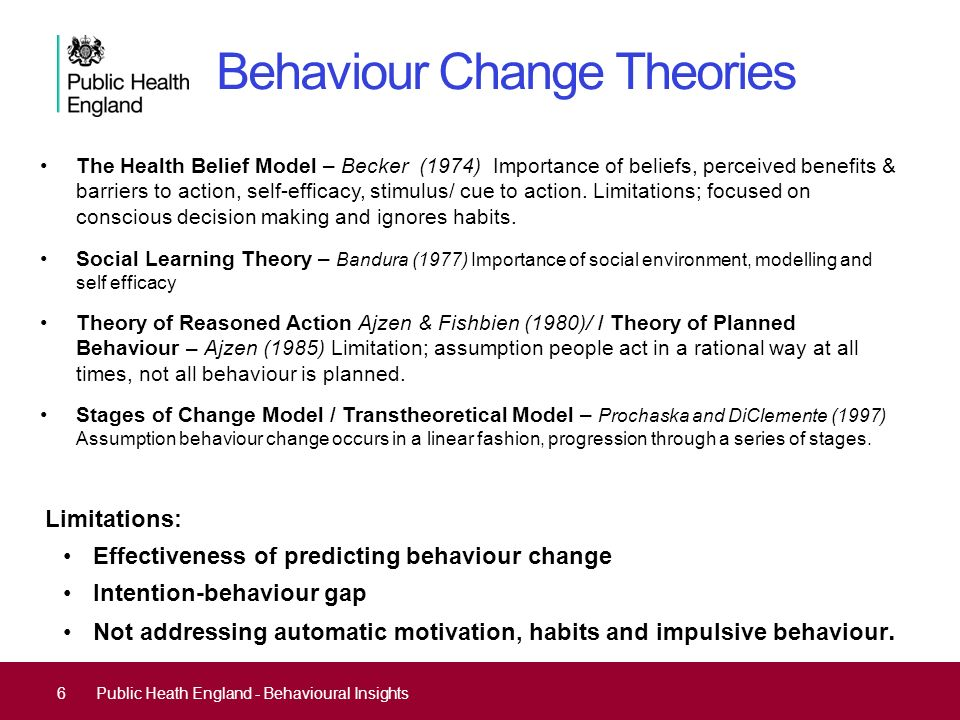 changing behaviours  not minds behavioural insights and
