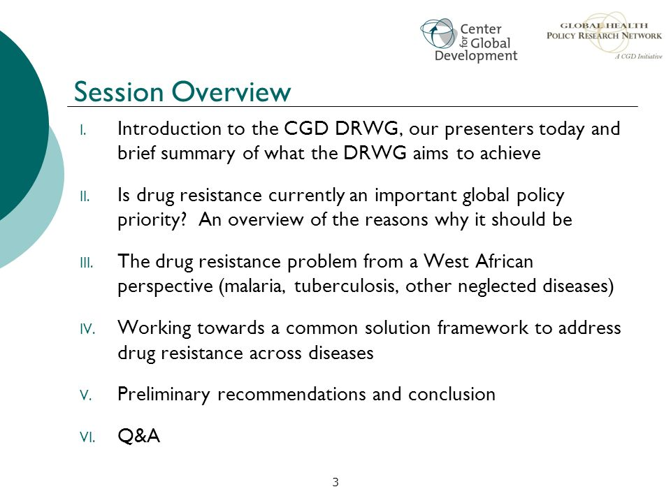 Session Overview Introduction to the CGD DRWG, our presenters today and brief summary of what the DRWG aims to achieve.