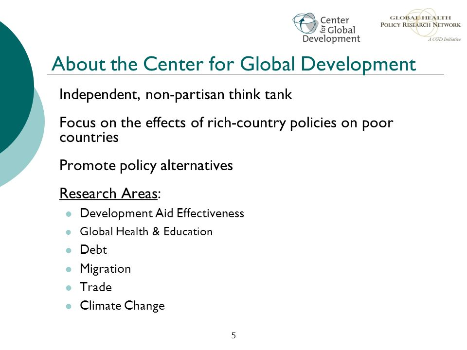 About the Center for Global Development