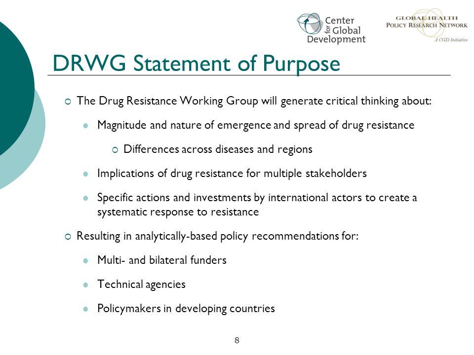 DRWG Statement of Purpose