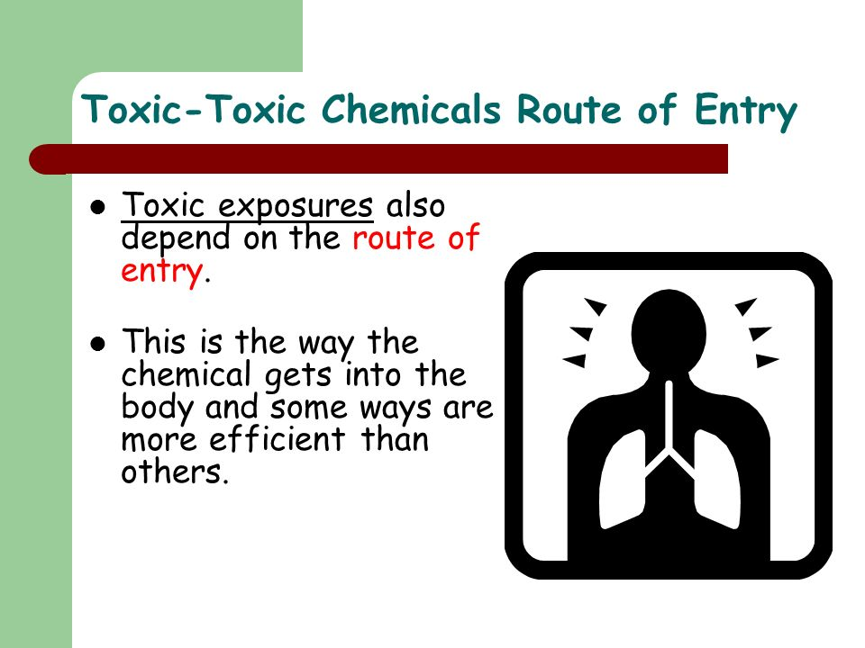 Toxic-Toxic Chemicals Route of Entry