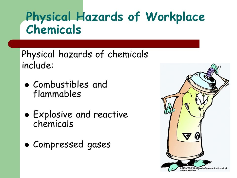 Physical Hazards of Workplace Chemicals