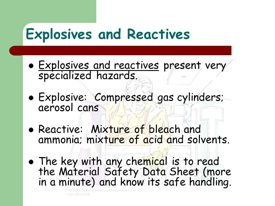 Explosives and Reactives