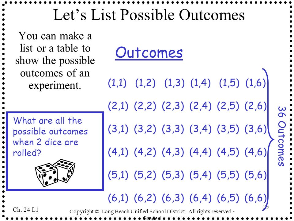 Let's List Possible Outcomes