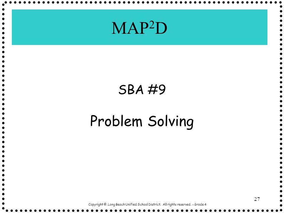 MAP2D Problem Solving SBA #9
