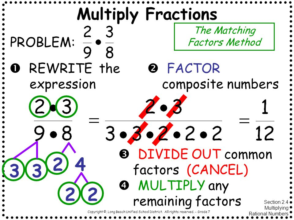 The Matching Factors Method