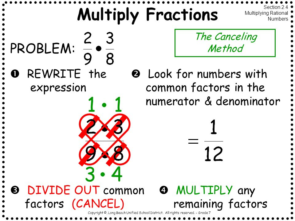 1 1 3 4 Multiply Fractions PROBLEM:  REWRITE the expression