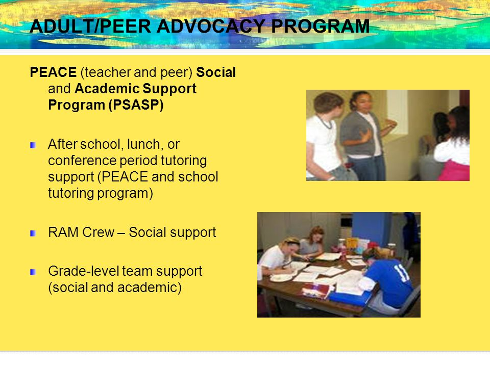 ADULT/PEER ADVOCACY PROGRAM
