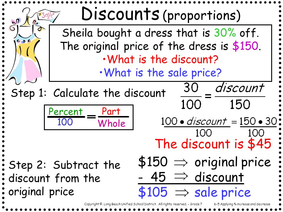 Discounts (proportions)