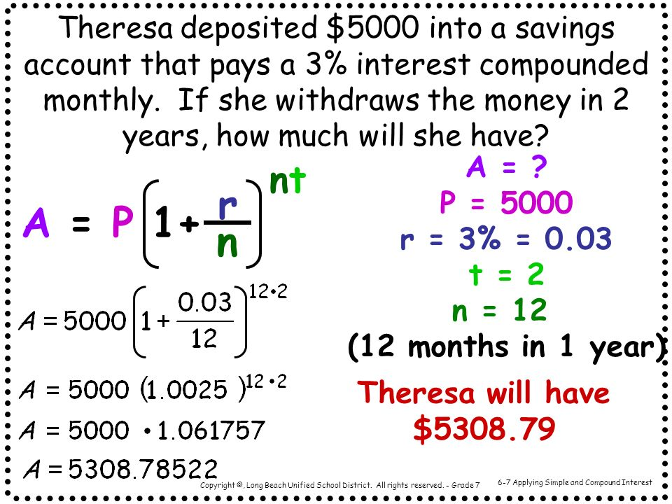 6-7 Applying Simple and Compound Interest