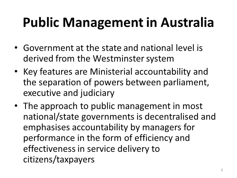 Public Management in Australia