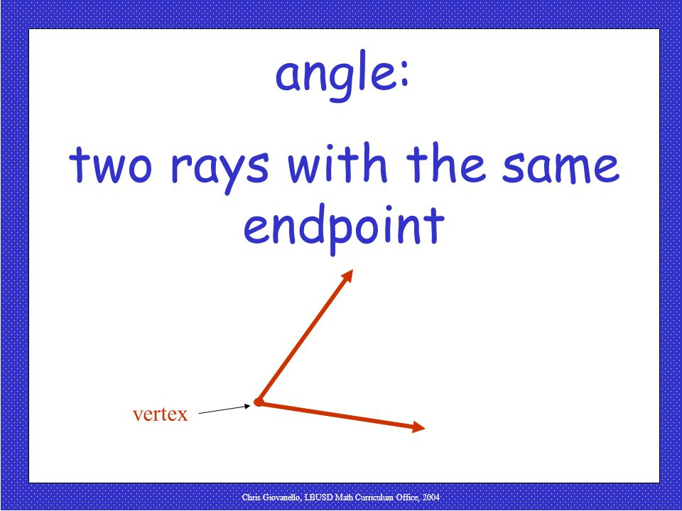 two rays with the same endpoint