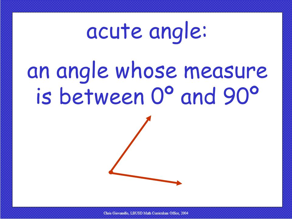 an angle whose measure is between 0º and 90º