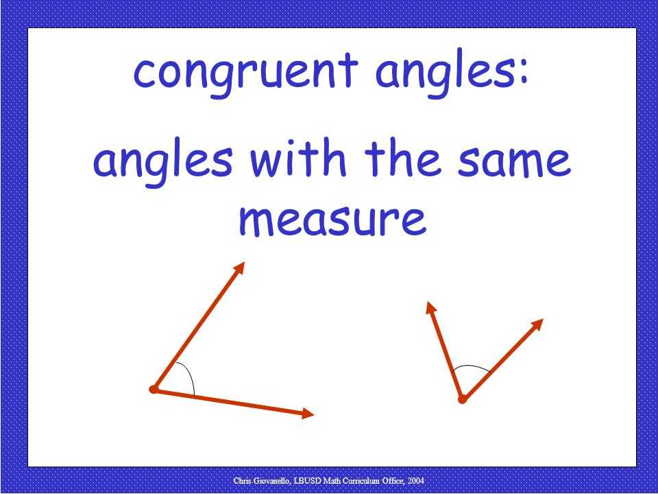 angles with the same measure