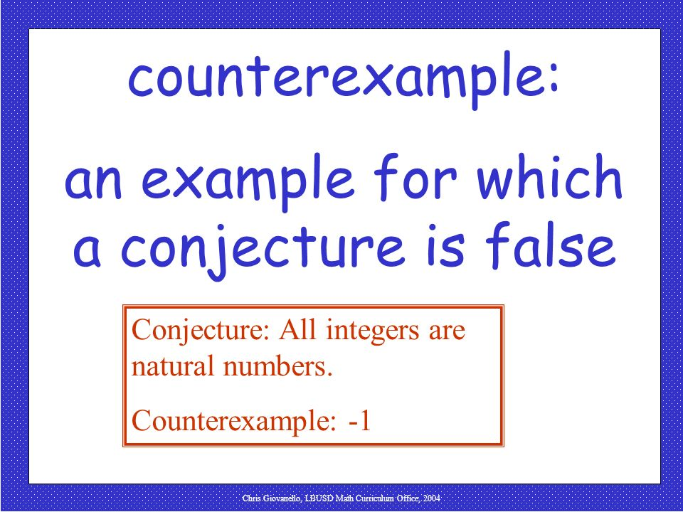 an example for which a conjecture is false