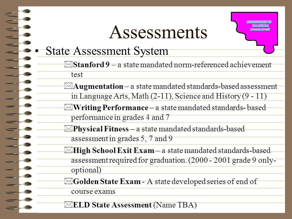 Assessments State Assessment System