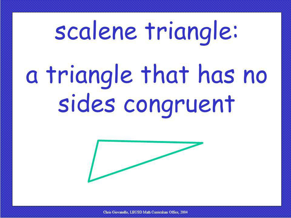 a triangle that has no sides congruent