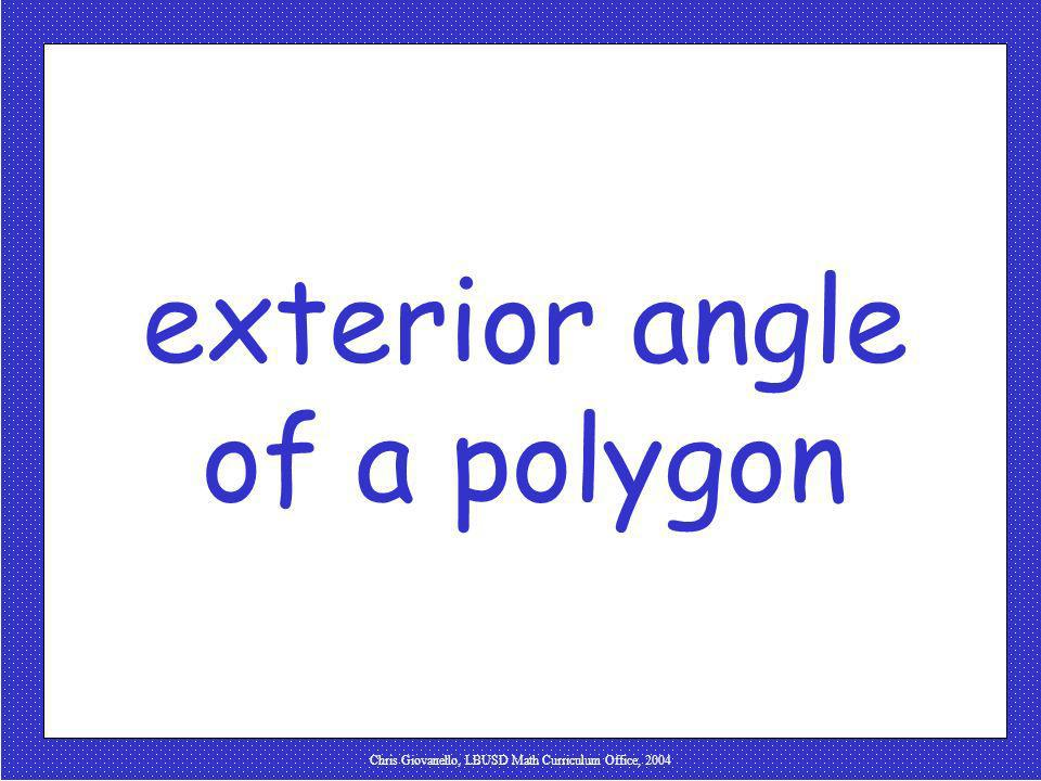 exterior angle of a polygon